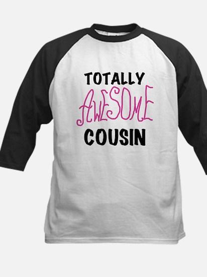 Pink Awesome Cousin Kids Baseball Jersey
