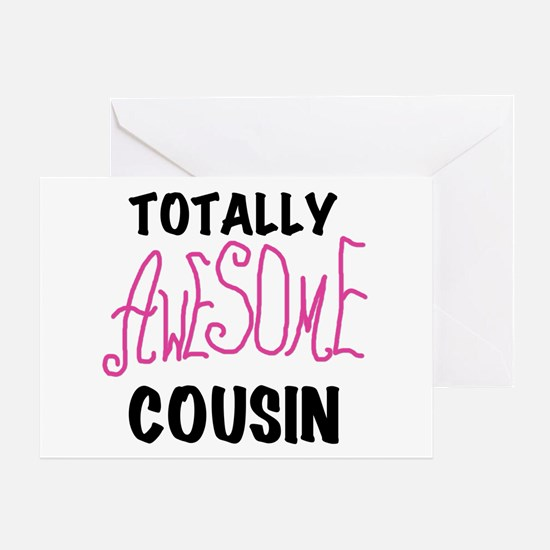 Pink Awesome Cousin Greeting Card
