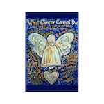Blue & Gold Cancer Ang Rectangle Magnet (100 pack)
