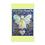 Blue & Gold Cancer Angel Rectangle Car Magnet
