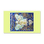 Blue & Gold Cancer Angel Car Magnet 20 x 12