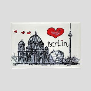 I love Berlin Rectangle Magnet