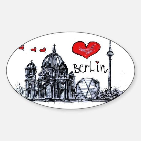I love Berlin Sticker (Oval)