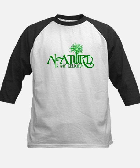 Nature Is My Religion Kids Baseball Jersey