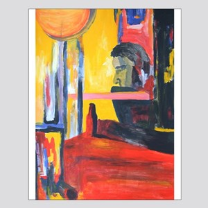 Colorful Arty Painting of Man Poster Design