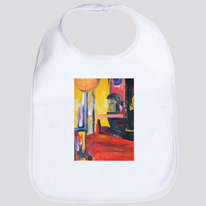 Colorful Arty Painting of Man Bib