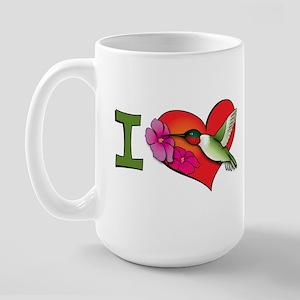 I heart hummingbirds Large Mug