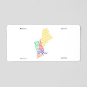 New England Aluminum License Plate