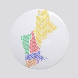 New England Ornament (Round)