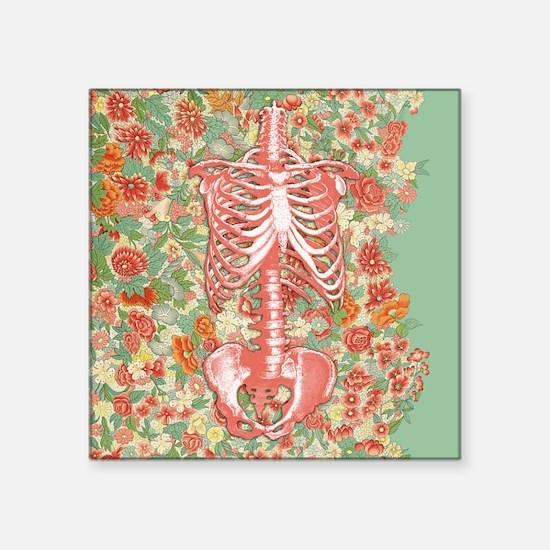 Skeleton Floral Sticker