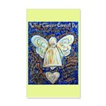 Blue & Gold Cancer Angel 20x12 Wall Decal