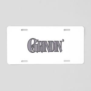 Grindin' Aluminum License Plate