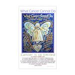 Blue & Gold Cancer Angel Sticker (Rectangle)