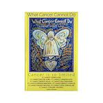 Blue & Gold Cancer Ange Rectangle Magnet (10 pack)