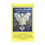 Blue & Gold Cancer Angel Sticker (Rectangle 50 pk)