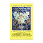 Blue & Gold Cancer Angel Mini Poster Print