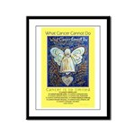Blue & Gold Cancer Angel Framed Panel Print