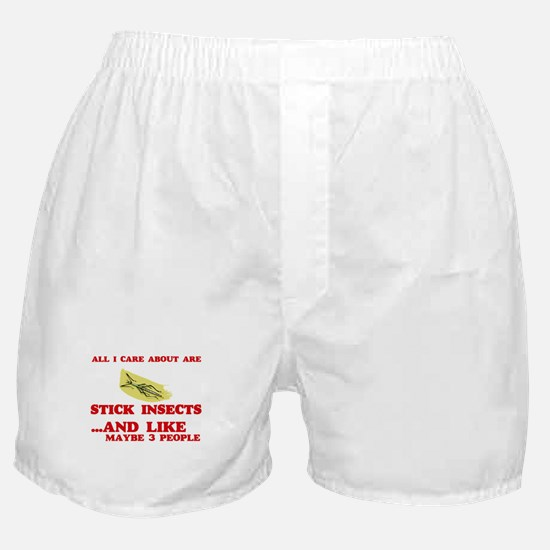 All I care about are Stick Insects Boxer Shorts