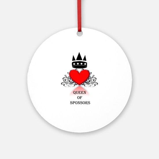 Queen Sponsor Ornament (Round)