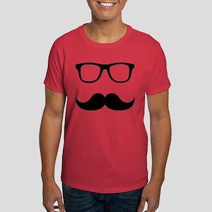 Mustache Glasses Dark T-Shirt