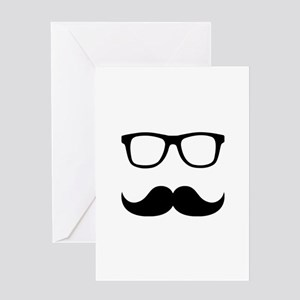 Mustache Glasses Greeting Card