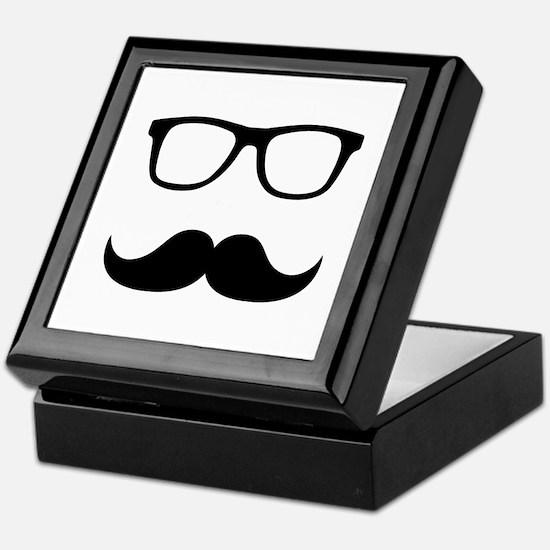 Mustache Glasses Keepsake Box