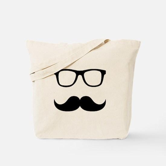 Mustache Glasses Tote Bag