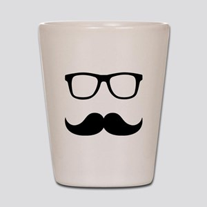 Mustache Glasses Shot Glass
