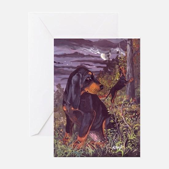 Black & Tan Coonhound PD Greeting Card