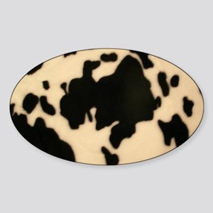 Dairy Cow Print Sticker (Oval)