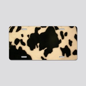 Dairy Cow Print Aluminum License Plate