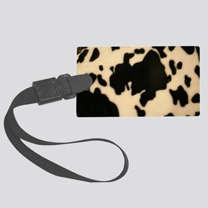 Dairy Cow Print Large Luggage Tag