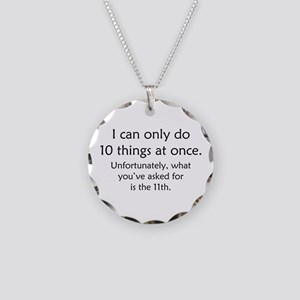 Ten Things At Once Necklace Circle Charm