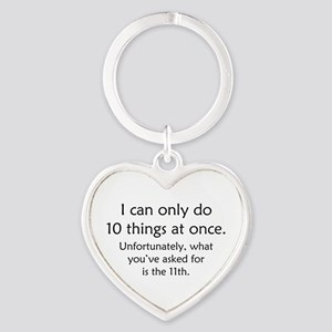 Ten Things At Once Heart Keychain