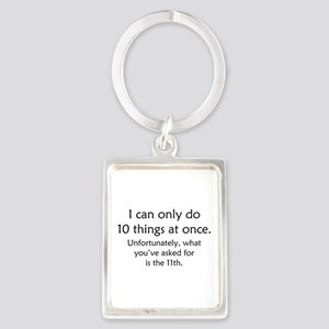 Ten Things At Once Portrait Keychain