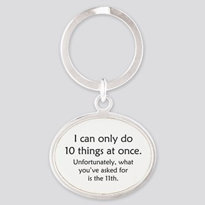 Ten Things At Once Oval Keychain