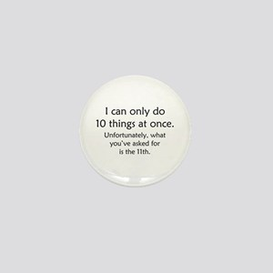 Ten Things At Once Mini Button