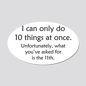 Ten Things At Once 20x12 Oval Wall Decal