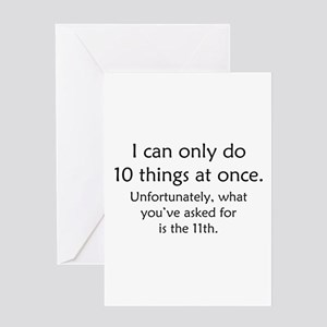 Ten Things At Once Greeting Card