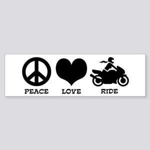 Peaceloveridefemale Bumper Sticker