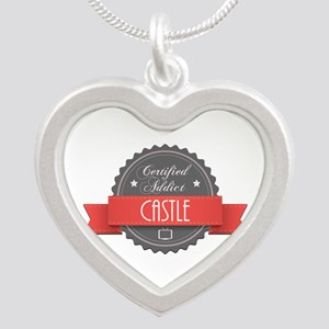 Certified Addict: Castle Silver Heart Necklace