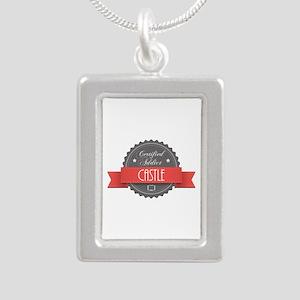 Certified Addict: Castle Silver Portrait Necklace