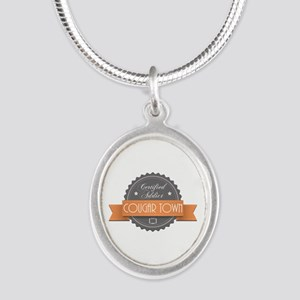 Certified Addict: Cougar Town Silver Oval Necklace