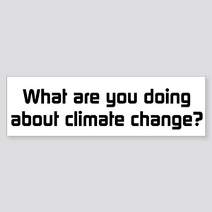 Climate Change Action Bumper Sticker