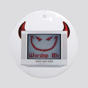 Devil TV Ornament (Round)