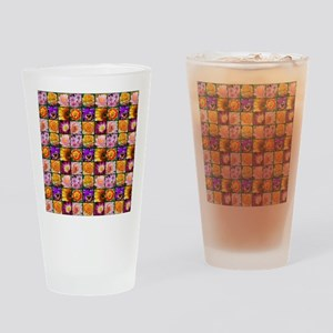 Colorful flower collage Drinking Glass