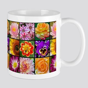 Colorful Flower Collage Mugs