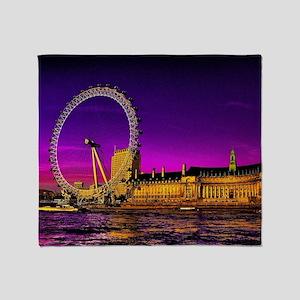 London Eye Throw Blanket