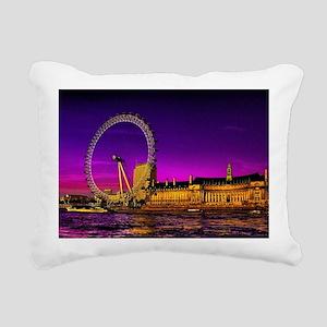 London Eye Rectangular Canvas Pillow