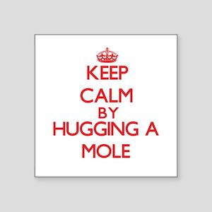Keep calm by hugging a Mole Sticker